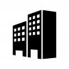 建物・ビルの白黒シルエットイラスト02