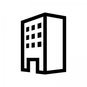 建物・ビルの白黒シルエットイラスト03