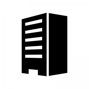 建物・ビルの白黒シルエットイラスト04
