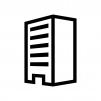 建物・ビルの白黒シルエットイラスト05