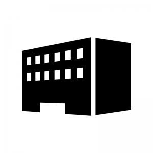 建物・ビルの白黒シルエットイラスト06