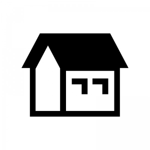 家のシルエット 無料のaipng白黒シルエットイラスト