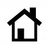 家の白黒シルエットイラスト03