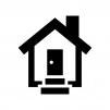 家の白黒シルエットイラスト04