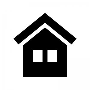 家の白黒シルエットイラスト06