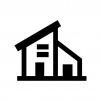 家の白黒シルエットイラスト07