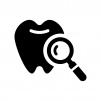 歯の検査の白黒シルエットイラスト02