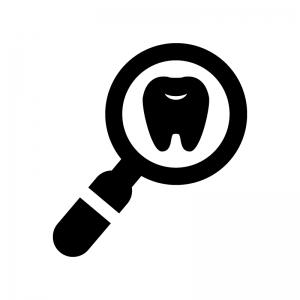 歯の検査の白黒シルエットイラスト04