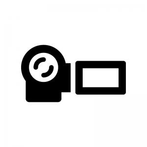 ビデオカメラのシルエット02 無料のai Png白黒シルエットイラスト