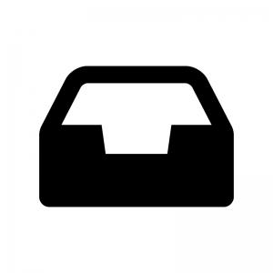 タスクトレイの白黒シルエットイラスト