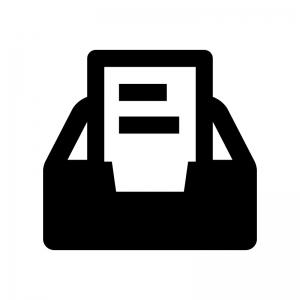 タスクトレイの白黒シルエットイラスト02