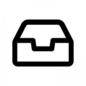 タスクトレイの白黒シルエットイラスト03