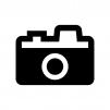 アンティークなカメラの白黒シルエットイラスト