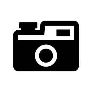 アンティークなカメラの白黒シルエットイラスト02