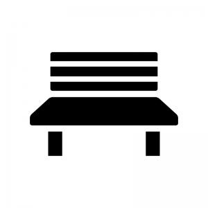 ベンチの白黒シルエットイラスト03