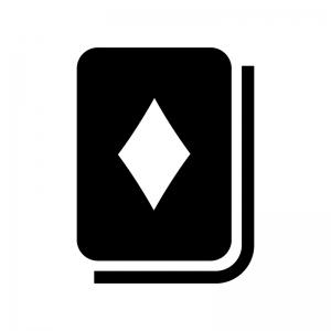 トランプ・ダイヤの白黒シルエットイラスト02