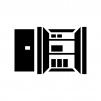 クローゼット・収納スペースの白黒シルエットイラスト
