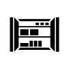 クローゼット・収納スペースの白黒シルエットイラスト02