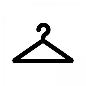 ハンガーの白黒シルエットイラスト03