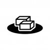 豆腐の白黒シルエットイラスト