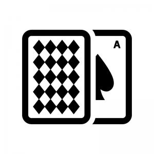 カードゲーム・トランプの白黒シルエットイラスト02