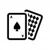 カードゲーム・トランプの白黒シルエットイラスト03