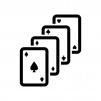 カードゲーム・トランプの白黒シルエットイラスト05