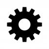 歯車・設定の白黒シルエットイラスト02