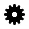歯車・設定の白黒シルエットイラスト03
