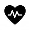 血圧の白黒シルエットイラスト