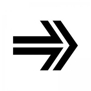 矢印の白黒シルエットイラスト