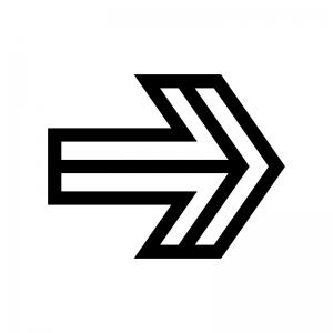 矢印の白黒シルエットイラスト02