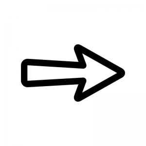 矢印の白黒シルエットイラスト04