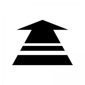矢印の白黒シルエットイラスト06