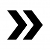 矢印の白黒シルエットイラスト08