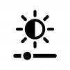 明るさ調整の白黒シルエットイラスト02