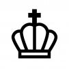 王冠の白黒シルエットイラスト07