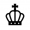 王冠の白黒シルエットイラスト08