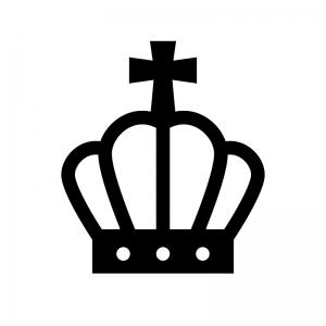 王冠のシルエット08 無料のaipng白黒シルエットイラスト