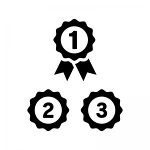 ランキングの白黒シルエットイラスト04