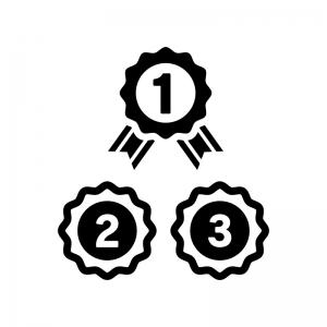 ランキングの白黒シルエットイラスト05