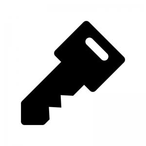 鍵の白黒シルエットイラスト09