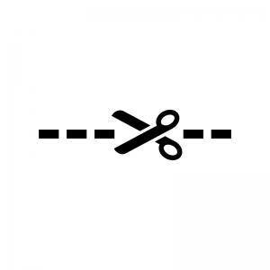切り取りの白黒シルエットイラスト02