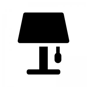 電気スタンドの白黒シルエットイラスト04