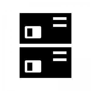 物入れ・ロッカーの白黒シルエットイラスト02