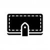 長財布の白黒シルエットイラスト03