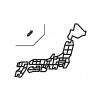 都道府県別・日本地図の白黒シルエットイラスト02