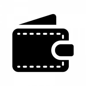 財布の白黒シルエットイラスト02