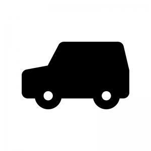 自動車・ワゴン車の白黒シルエットイラスト