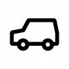 自動車・ワゴン車の白黒シルエットイラスト02